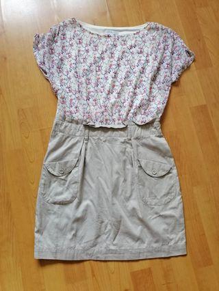 # blessing: sakura print dress