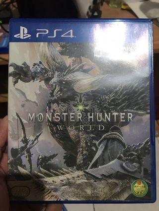 Kaset ps 4 monster hunter world