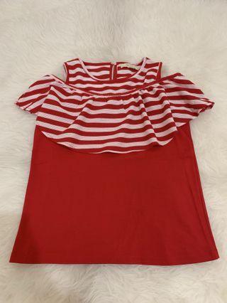 Red Sabrina top