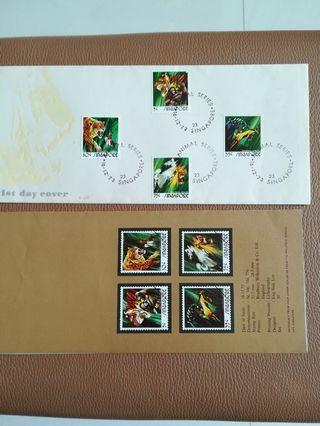 🚚 Singapore Stamps first day cover
