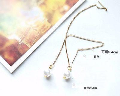 全新 珍珠耳鍊