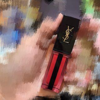 YSL奢華緞面水光染唇釉#608 二手