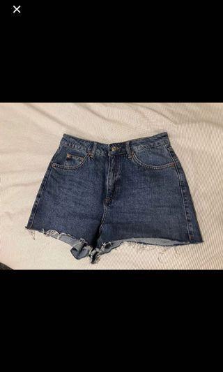 Top Shop Jean Mom Shorts
