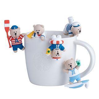 Starbucks Sailor Bear Mug Companion Figurines (Set of 5)