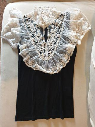 NaNa De Luxe Korea Black Lace Top