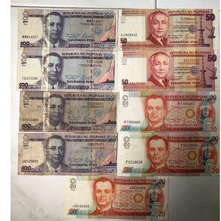 Withdrawn Philippines Peso Banknotes