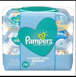 🚚 Pampers Baby Wipes (Scented)