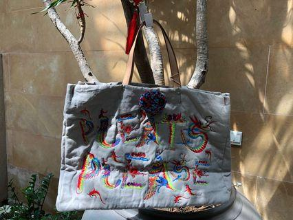 Rare Issey Embroidered Tote