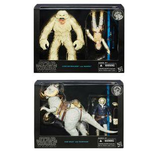 """STAR WARS 6""""INCH HAN SOLO AND LUKE SKYWALKERS BRAVE HOTH ( BLACK SERIES ) SET OF 2 - RARE"""