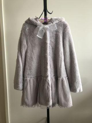 Brand new japan Liz Lisa lilac super fluffy hooded coat jacket