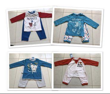 🚚 Baby PJ - 4 sets