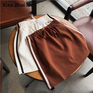 短裙 裙子 紅棕色