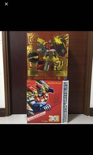 Transformers Omega Supreme and Starscream