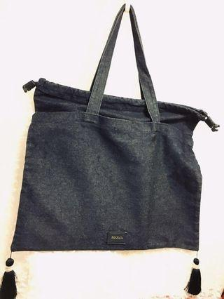 Max &Co. denim bag 深藍色牛仔布袋