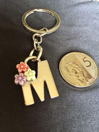 M double sided keychain