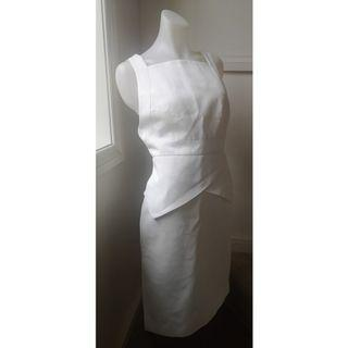 Size M: white sleeveless dress - as new condition! MASSIVE WARDROBE CLEAN OUT!