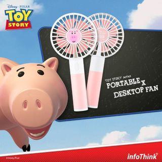 InfoThink x 玩具總動員 火腿豬 行動x桌上 兩用 風扇 USB充電 火腿 豬仔 HKG x TPE 台灣代購 歡迎查詢
