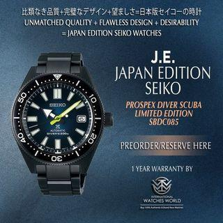 SEIKO JAPAN EDITION PROSPEX AUTOMATIC BLUE BLACK SERIES LIMITED EDITION SBDC085
