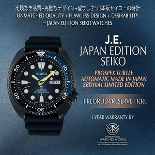 SEIKO JAPAN EDITION PROSPEX TURTLE AUTOMATIC BLUE BLACK SERIES LIMITED EDITION SBDY041
