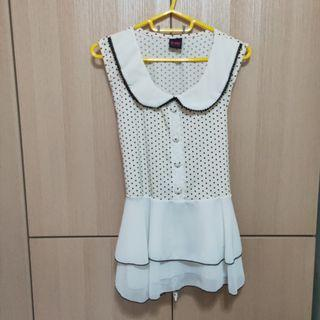 [Instock] Pretty Chiffon Blouse with Doll Collar