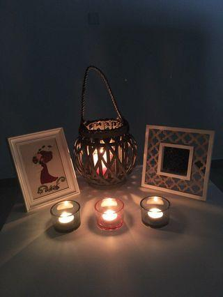 Candle holders, Mirror and Art workframe