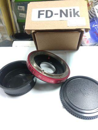 FD-AI optical adaptor 轉接環 (FD lens to Nikon camera)