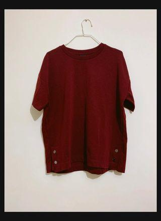 Thick Maroon Top