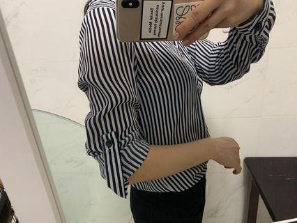 🚚 二手 條紋襯衫