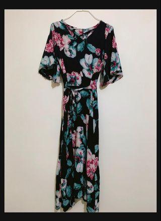 🚚 Floral ankle-length dress