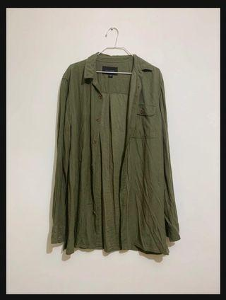 🚚 Army Green Oversized Shirt