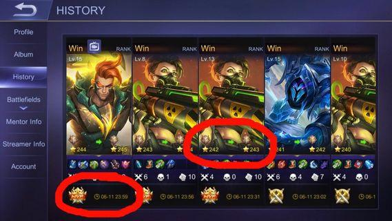 ✅1 DAY RANK/CLASSIC BOOSTING MOBILE LEGENDS✅ diamonds mobile legends