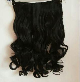 Hairclip Curly Black