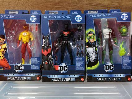 🚚 Mattel DC Multiverse Kid Flash Wally West, Batman Beyond, Kyle Rayner Green Lantern