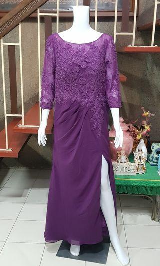 Violet Grape Dress with side slit size 14  XL