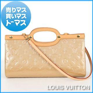 LV Cuir Monogram Vernis Roxbury Noisette Beige Patent leather