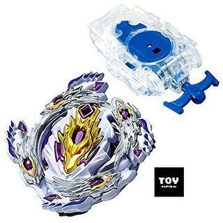 BEYBLADE CHO Z BLOODY LONGINUS WITH CLEAR LEFT LAUNCHER