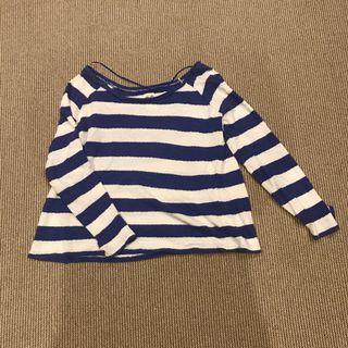 Strips blue white sweater