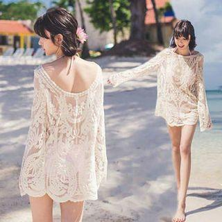 Beach cover up lace dress
