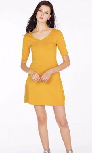 TCL Dasia U Back Mustard Dress