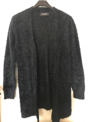 Black long cardigan size small