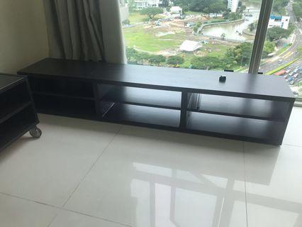🚚 TV Console - dark brown