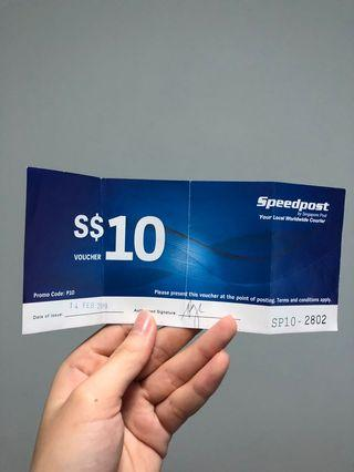 Speedpost $10 for $5!! Half-price!!