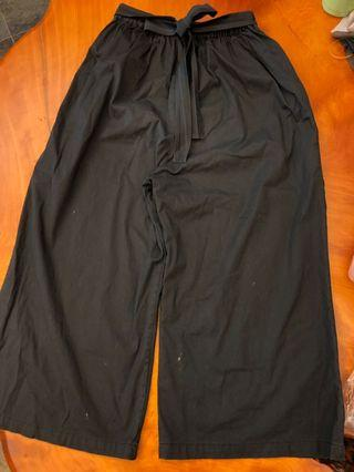 🚚 七分寬褲 前綁帶