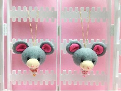 🚚 手作娃娃頭部吊飾 — 老鼠