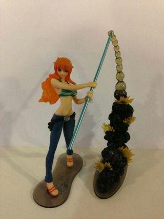 nami one piece attack motion figure