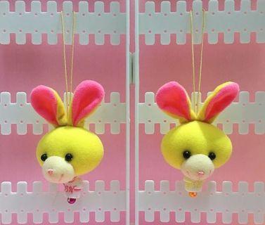 🚚 手作娃娃頭部吊飾 — 兔子