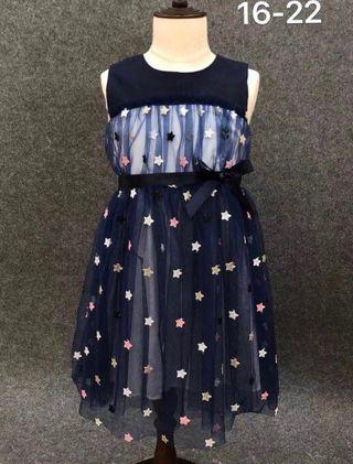 Starry starry cotton tulle dress