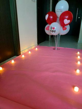 70cm Wedding  proposal balloons with stand (Ready Stock)