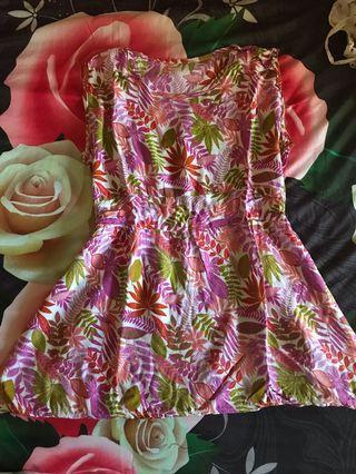 Preloved flower dress mini / atasan