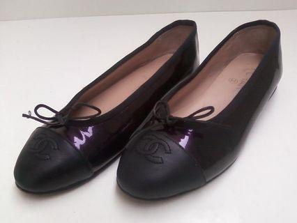 Chanel Metallic Ballerina Flat Shoes
